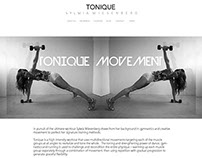TONIQUE website layout