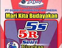 Banner Poster 5S 5R Seiri Seiton PT Summit Adyawinsa