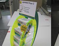 display for aspirin ( for company Cedic germany )