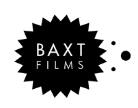Baxt films logo and website