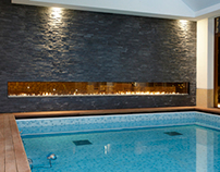 Clear Tunnel Fireplace by Ortal USA