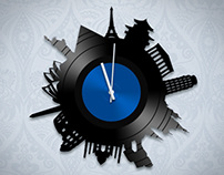 Vinyl clocks concepts