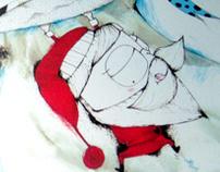 Christmas Book . Kids Illustration