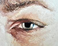 Textured Portrait Painting