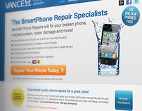 Vancell Phone Repairs - Website Design