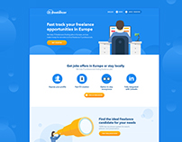 Landing page for It-freelancer