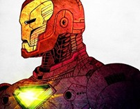 Color Explosion Iron Man