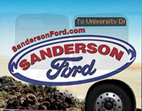 Sanderson Ford Bus Wrap