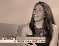 Entrevista a Dulce en Andrea