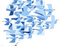 21 Blue Birds