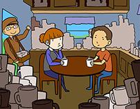 Bioeconomy Institute - Coffee Parable Illustration