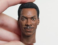 1/6 Eddie Murphy Head Painting