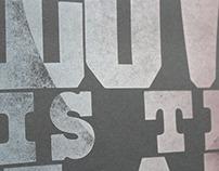 Letterpress Posters   Blinc Publishing Internship