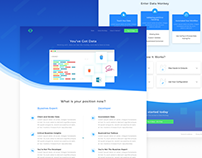 Redesign Landing Page for Data Monkey