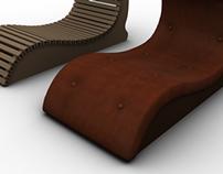 cardboard,  furniture, Modeling 3D
