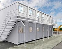 Criação em 3D - Módulos Habitacionais - Tipo Container