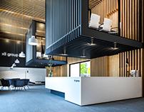 Przestrzeń biurowa - grzejniki Zehnder