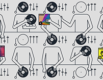 "8tracks ""Mixtapes Evolved"" Illustrations"