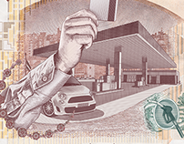 """VISA - """"Extra Cash"""" Illustration"""