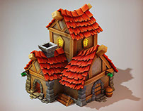 3D game art - Pirate House