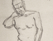 Live Model Figure Drawing #1