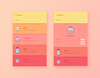 I recently tried some interface exercises on dribbble,