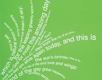 "concrete poem - ""i thank you God..."""