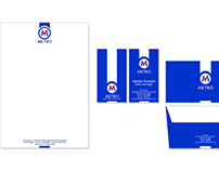 Metro (Business card- Letterhead- Envelope)