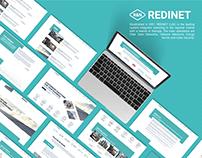Redinet - UI/UX, Web development