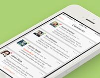 iOS 7 Screen Designs
