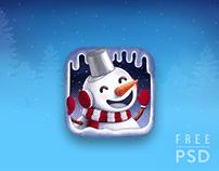 FREE PSD CHRISTMAS APP ICON