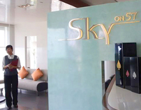 Sky on 57, Marina Bay Sands Singapore : Brand identity