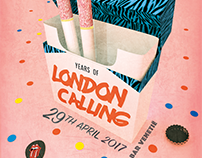 LONDON CALLING | anniversary poster
