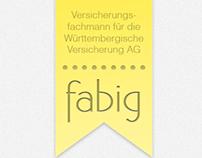 Logo & Webseite für Fabig Versicherung