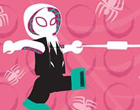 Spider-Gwen Brickset Banner