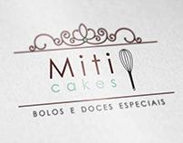 Identidade Visual Miti Cakes.