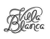 Villa Blanca Lettering