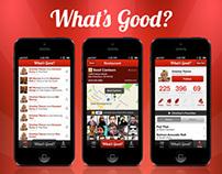 WhatsGOOD iOS App UI