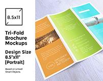 Tri-Fold Brochure/Flyer Mock-up's