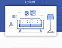 Illustrations for an interior design website -Thachcher