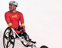 Traje PLUS 18 para el atletismo sobre silla de ruedas