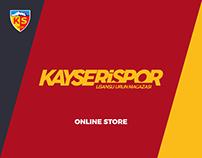 KAYSERİSPOR Official Online Store Design