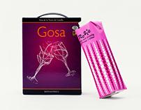 Förpackningsdesign vin - Gosa och Rosie
