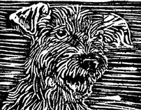 Terrier - LinoCut
