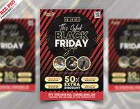 Black Friday Sale Promotional Flyer PSD