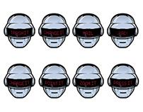 16 frame Daft Punk print