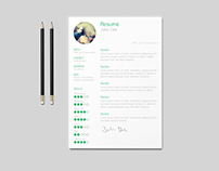 Free Simple and Clean Resume Template