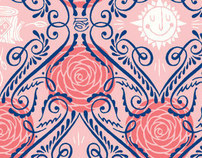 Rachel & Eric Wedding Pattern & Invitation
