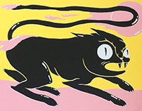 Cat Screenprint by Inkproject