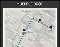 UX Cab Service with multi drops facility